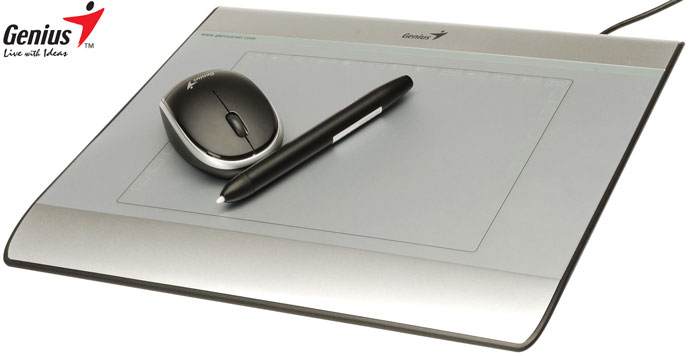 Genius mouse pen i608x drawing tablet 6 x8 1024 pressure level