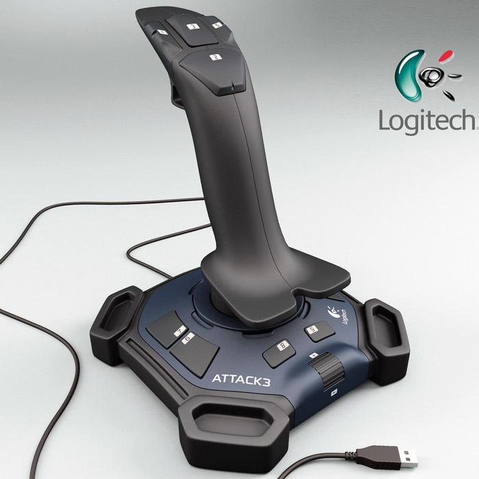 joystick logitech attack 3: